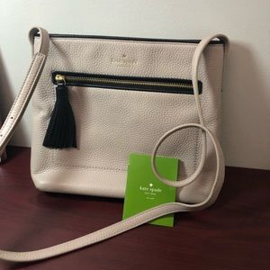 Kate spade grained leather cross body bag